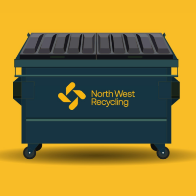 North West Recycling branded skip