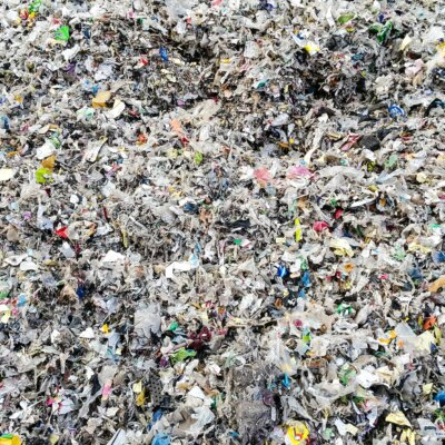A close up of waste