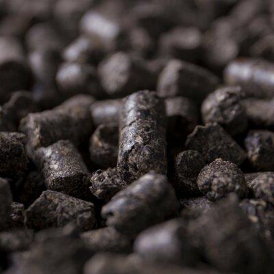 A close up of SRF pellets