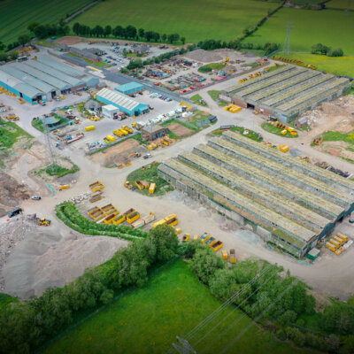 Overhead drone shot of the North West Recycling facility